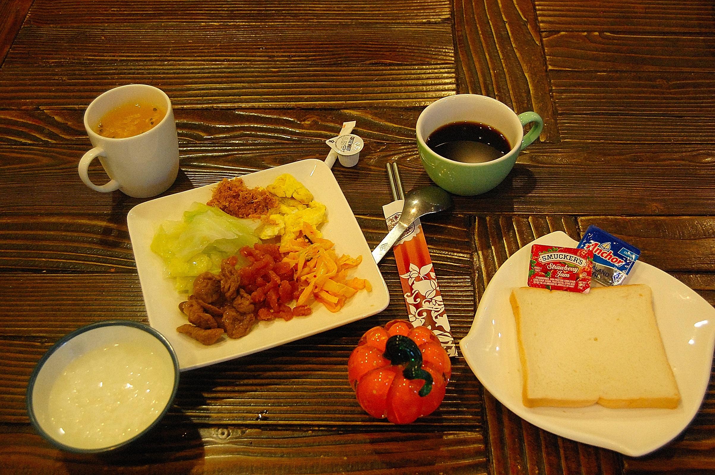 欧式丰富的早餐图片
